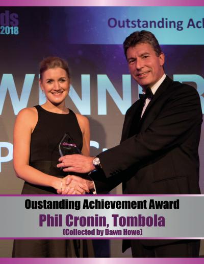 Outstanding Achievement - Phil Cronin, Tombola