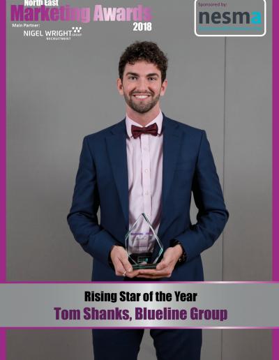 Rising Star of the Year - Tom Shanks, Blueline Group